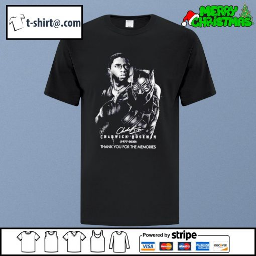 Chadwick Boseman signature 1977-2020 thank you for the memories shirt