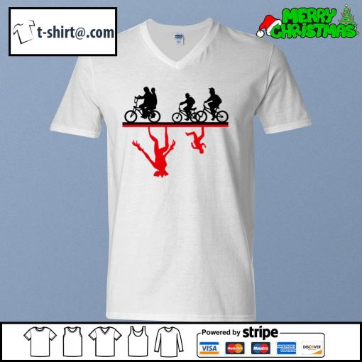 Cycle The Upside Down Stranger Things s v-neck-t-shirt