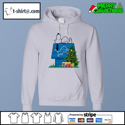 Detroit Lions Snoopy NFL Ornament, t-shirt and hoodie hoodie