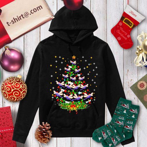 Dragonfly Christmas tree Santa Dragonfly bird Xmas shirt, sweater hoodie