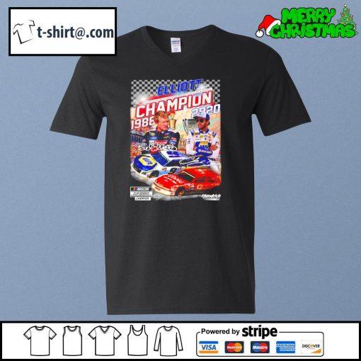 Elliott nascar cup series champion 1988 2020 signature s v-neck-t-shirt