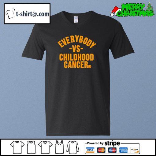 Everybody vs childhood cancer s v-neck-t-shirt