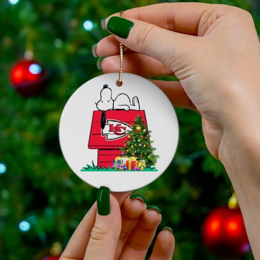 Kansas City Chiefs Snoopy NFL Ornament, t-shirt and hoodie