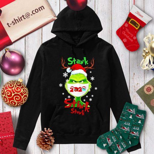 Merry Christmas Grinch wearing mask stank stink stunk 2020 shirt, sweater hoodie