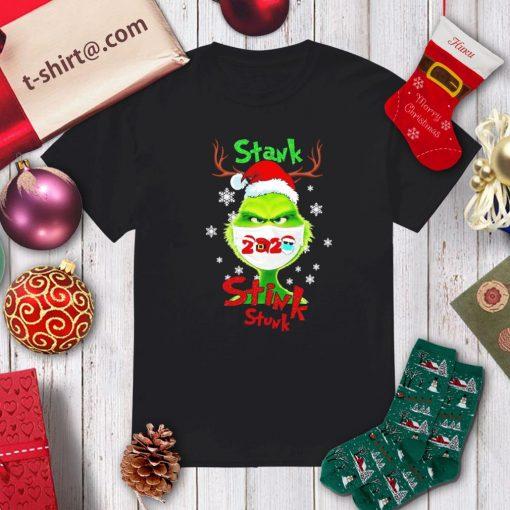 Merry Christmas Grinch wearing mask stank stink stunk 2020 shirt, sweater