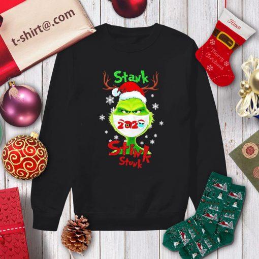 Merry Christmas Grinch wearing mask stank stink stunk 2020 shirt, sweater sweater