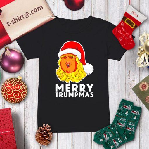 Merry Trumpmas Christmas shirt, sweater ladies-tee