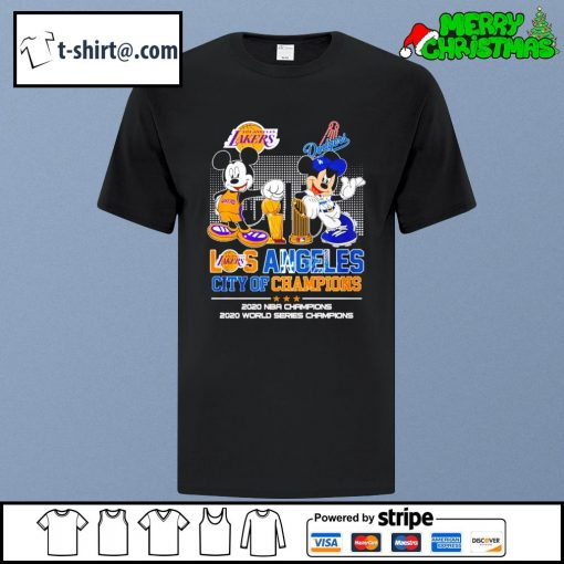 Mickey Los Angeles city of champions 2020 NBA champions 2020 world series champions shirt