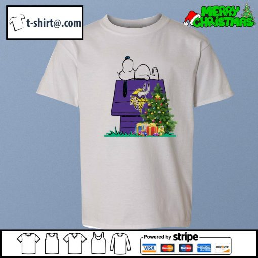 Minnesota Vikings Snoopy NFL Ornament, t-shirt and hoodie youth-tee