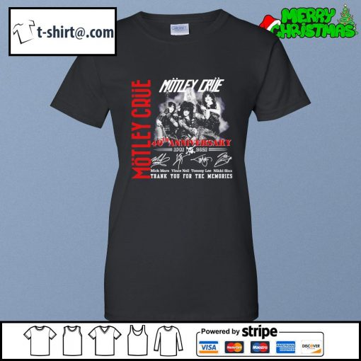 Motley Crue 40th anniversary 1981-2021 thank you for the memories s ladies-tee