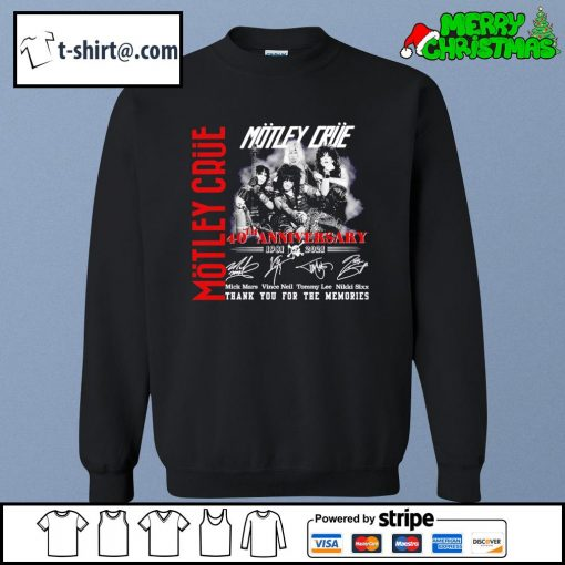 Motley Crue 40th anniversary 1981-2021 thank you for the memories s sweater