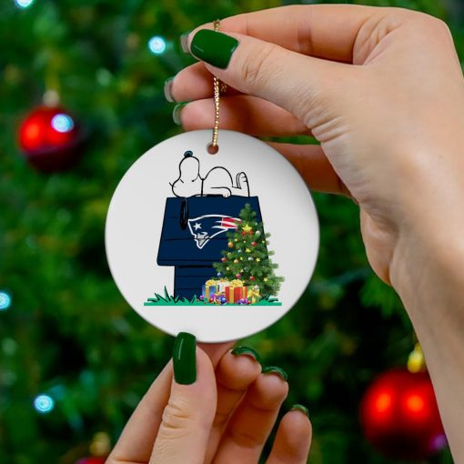 New England Patriots Snoopy NFL Ornament, t-shirt and hoodie