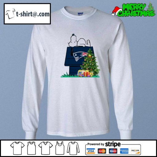 New England Patriots Snoopy NFL Ornament, t-shirt and hoodie longsleeve-tee