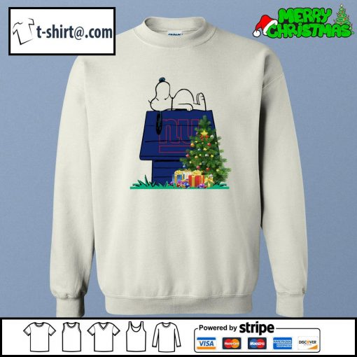 New York Giants Snoopy NFL Ornament, t-shirt and hoodie sweater