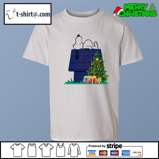 New York Giants Snoopy NFL Ornament, t-shirt and hoodie youth-tee