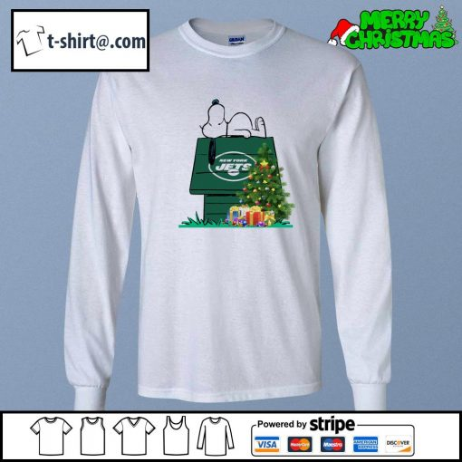 New York Jets Snoopy NFL Ornament, t-shirt and hoodie longsleeve-tee