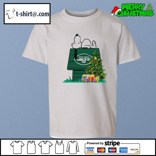 New York Jets Snoopy NFL Ornament, t-shirt and hoodie youth-tee
