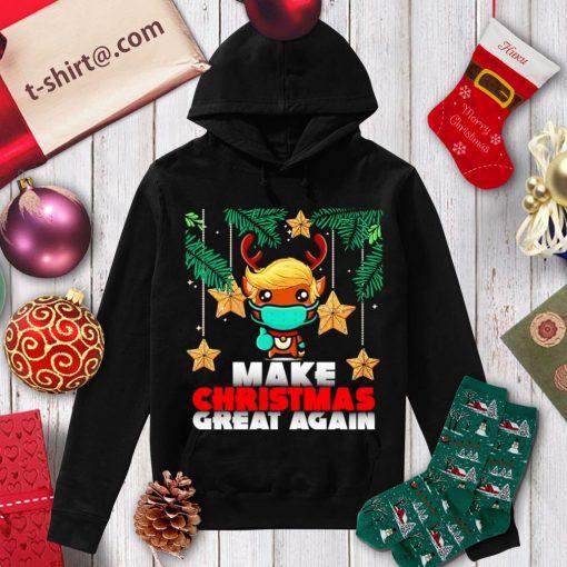 Reindeer Trump hair make Christmas great again shirt, sweater hoodie