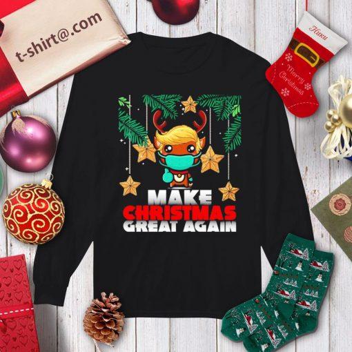 Reindeer Trump hair make Christmas great again shirt, sweater longsleeve-tee