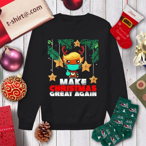 Reindeer Trump hair make Christmas great again shirt, sweater sweater