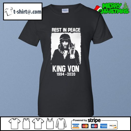 Rest in peace King Von 1994-2020 s ladies-tee