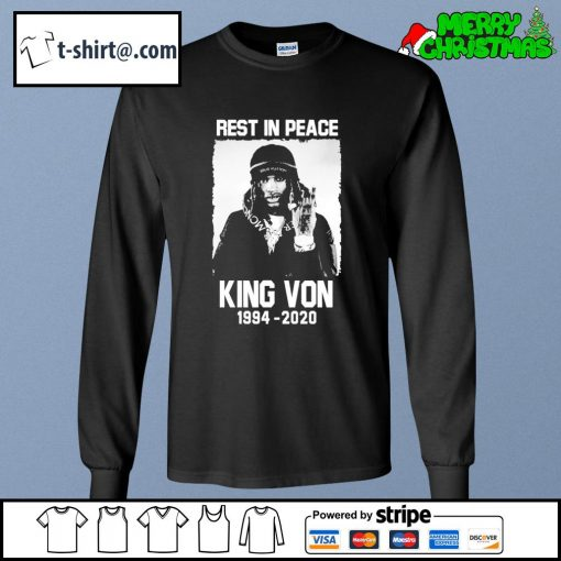 Rest in peace King Von 1994-2020 s longsleeve-tee