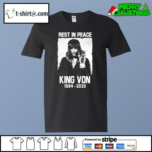 Rest in peace King Von 1994-2020 s v-neck-t-shirt