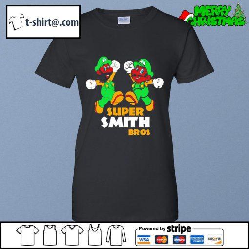 Super Mario Super Smith Bros s ladies-tee