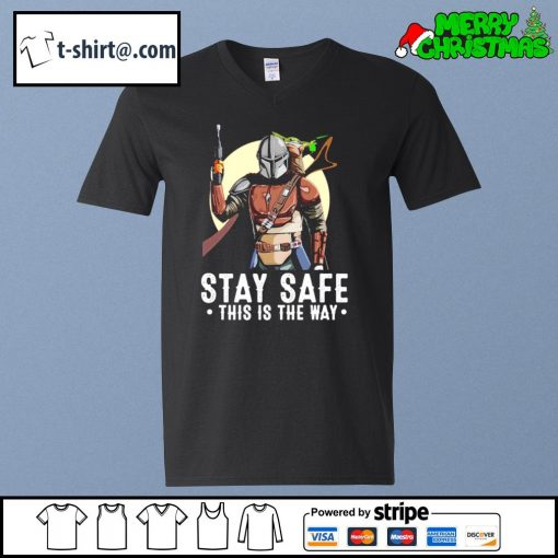 The Mandalorian and Baby Yoda stay safe this is the way s v-neck-t-shirt