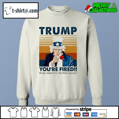 Uncle Sam Trump you're fired make America United again vintage s sweater