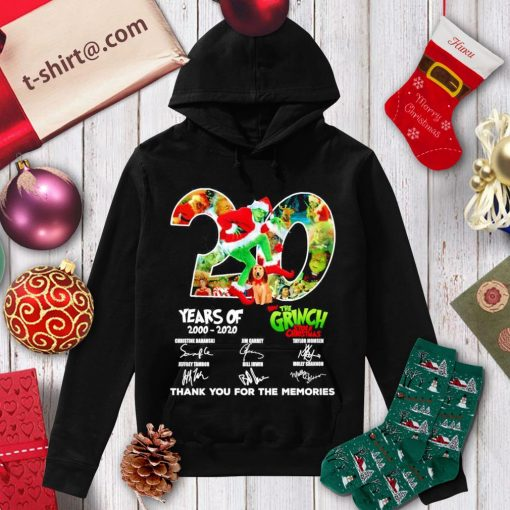 20 years of How The Grinch Stole Christmas 2000-2020 thank you for the memories s hoodie