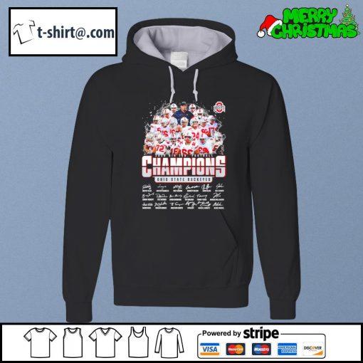 2020 Big Ten Football Champions Ohio State Buckeyes signatures s hoodie