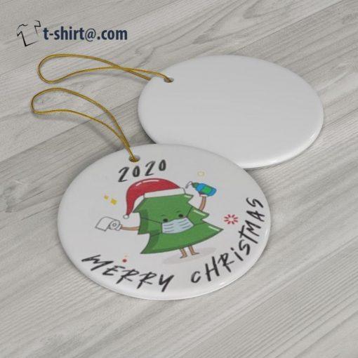 2020 Merry Christmas tree quarantine ornament