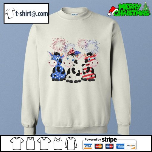 4th of July American flag cows s sweater