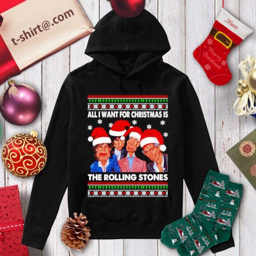 All I want for Christmas is The Rolling Stones ugly Christmas shirt, sweater hoodie