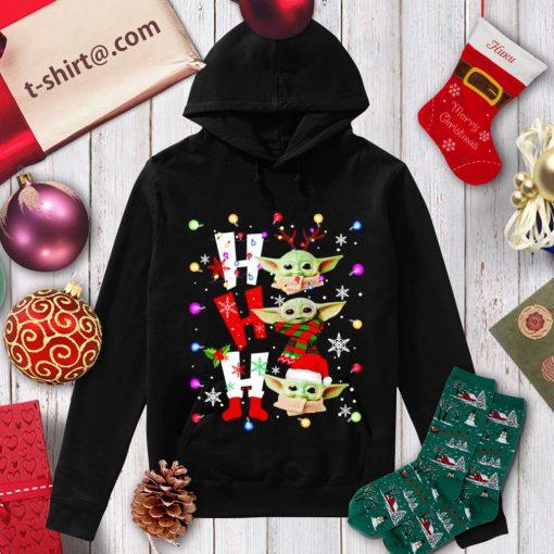 Baby Yoda Ho Ho Ho Christmas shirt, sweater hoodie