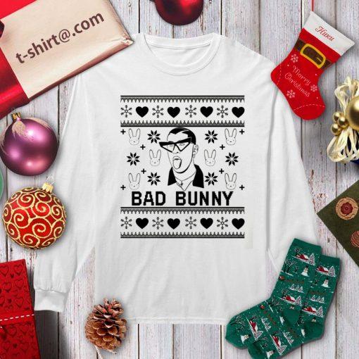 Bad Bunny Christmas ugly Xmas shirt, sweater longsleeve-tee