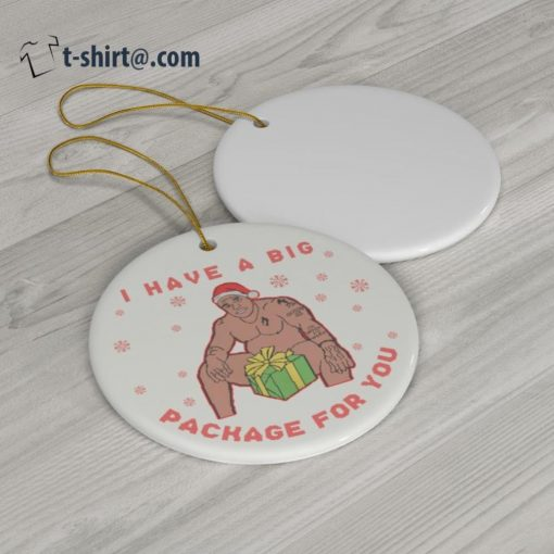 Barry Wood I have a big package for you Christmas ornament