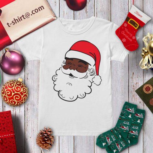 Black Santa Claus Christmas shirt, sweater ladies-tee