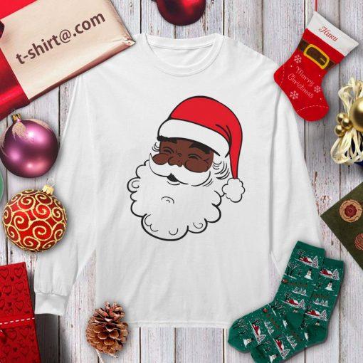 Black Santa Claus Christmas shirt, sweater longsleeve-tee