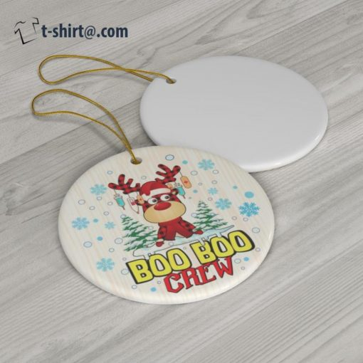 Boo Boo Crew Christmas reindeer ornament