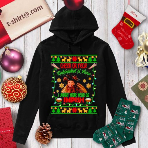 Dwight Schrute cheer or fear belsnickel is here I judge your year as Impish Christmas shirt, sweater hoodie