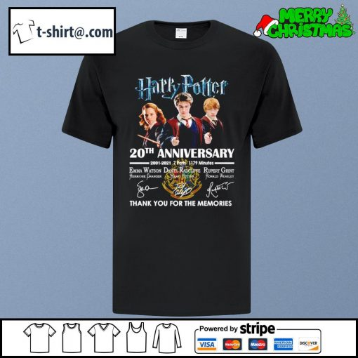 Harry Potter 20th anniversary 2001-2021 7 parts 1179 minutes thank you for the memories shirt