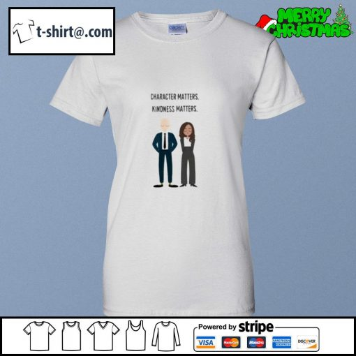 Joe and Kamala character matters kindness matters s ladies-tee