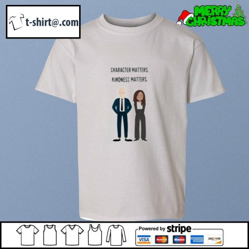 Joe and Kamala character matters kindness matters s youth-tee