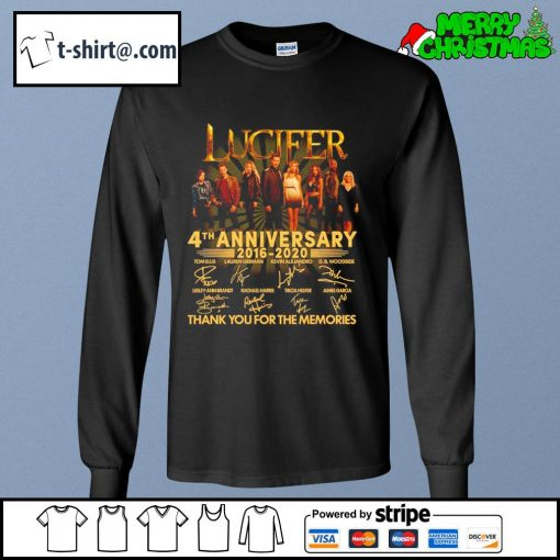 Lucifer 4th anniversary 2016-2020 thank you for the memories s longsleeve-tee