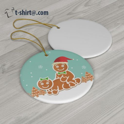 Naughty Dirty Gingerbread Christmas Ornament