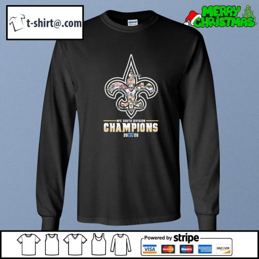 New Orleans Saints NFC South Division Champions 2020 signatures s longsleeve-tee