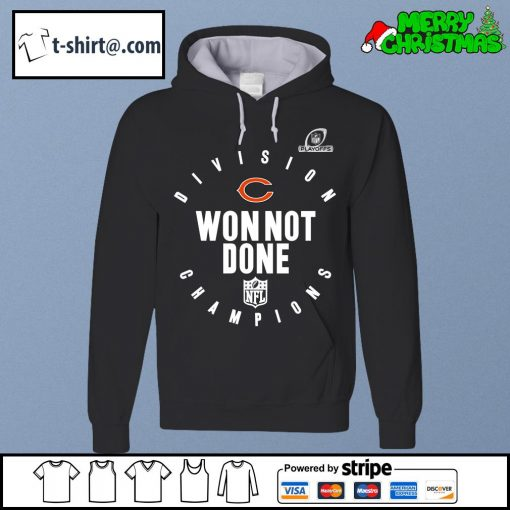NFL Playoffs 2020 Won Not Done Division Champions Chicago Bears s hoodie