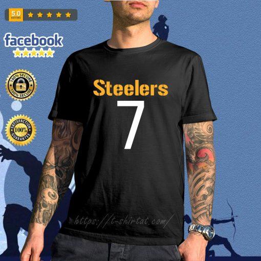 Pittsburgh Steelers Ben Roethlisberger Black Mainliner Name and Number T-Shirt